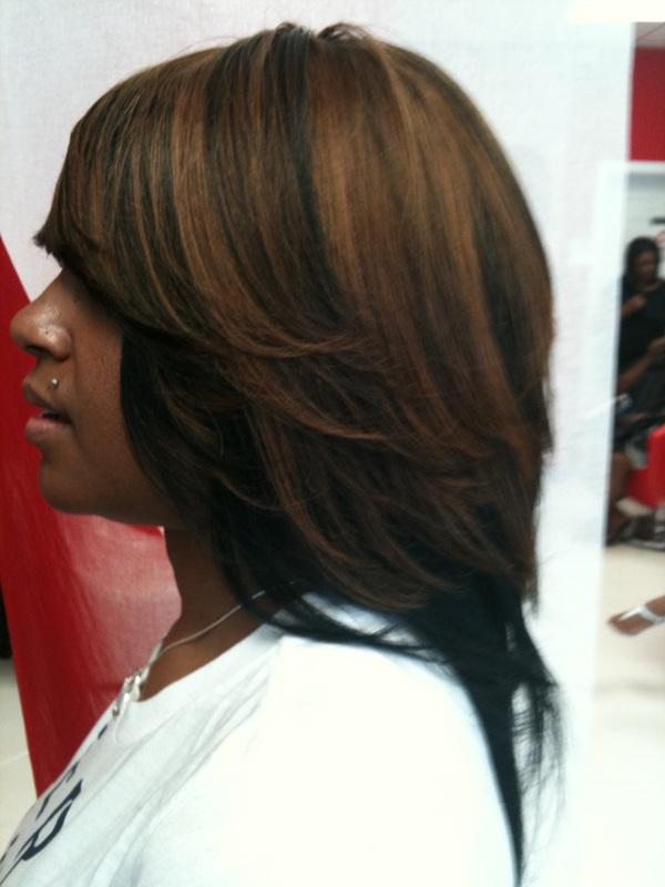 sew in layered bob hairstyles : Layered Sew In Weaves Razor Cuts Bob Cuts Perfect Bang Cuts Short ...